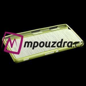 Gelové kartáčové pouzdro na Sony Xperia Z3 D6603 - zelené - 5
