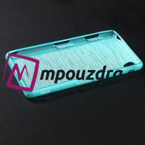 Gelové kartáčové pouzdro na Sony Xperia Z3 D6603 - modré - 5