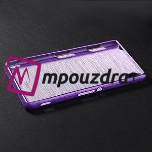 Gélové kartáčové puzdro pre Sony Xperia Z3 D6603 - fialové - 5