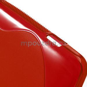 Gélové S-line puzdro pre HTC Desire 200- červené - 5