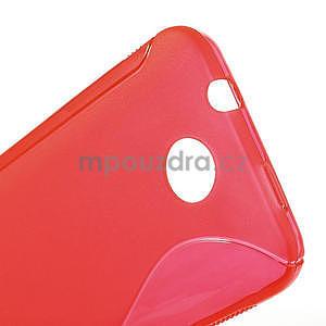 Gélové S-line puzdro pre HTC Desire 300 Zara mini- červené - 5