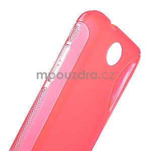 Gélové S-line puzdro pre HTC Desire 300 Zara mini- ružové - 5