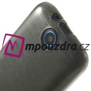 Gélové kartáčované puzdro na HTC Desire 310- šedé - 5