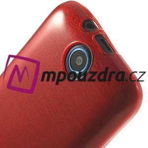 Gélové kartáčované puzdro na HTC Desire 310- červené - 5