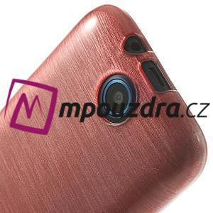 Gélové kartáčované puzdro na HTC Desire 310- světlerůžové - 5