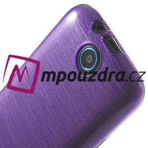 Gélové kartáčované puzdro na HTC Desire 310- fialové - 5