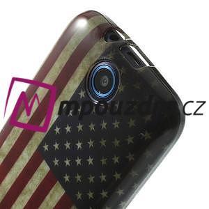 Gélové puzdro na HTC Desire 310- USA vlajka - 5
