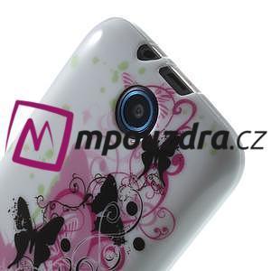 Gélové puzdro pre HTC Desire 310- motýľ kvet - 5