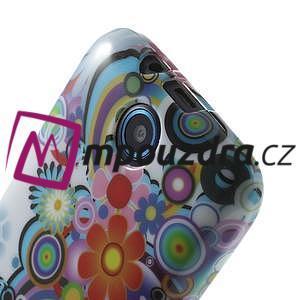 Gélové puzdro na HTC Desire 310- farebné květy - 5