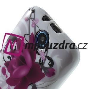 Gélové puzdro pre HTC Desire 310- fialový kvet - 5