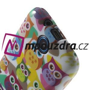 Gélové puzdro na HTC Desire 310- farebné sovy - 5