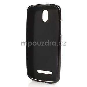 Gélové matné puzdro pre HTC Desire 500- čierné - 5