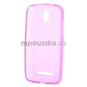Gélové matné puzdro pre HTC Desire 500- růžové - 5