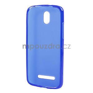 Gélové matné puzdro pre HTC Desire 500- modré - 5