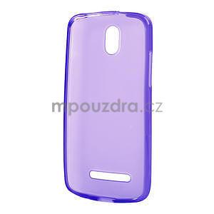 Gélové matné puzdro pre HTC Desire 500- fialové - 5