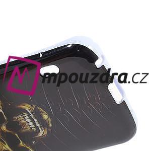 Gélové puzdro pre LG Optimus L5 Dual E455- lebka - 5