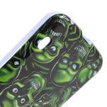 Gelová puzdro pre LG Optimus L5 Dual E455- zelené lebky - 5/5