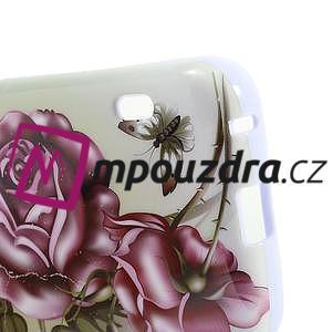 Gelová puzdro pre LG Optimus L5 Dual E455- Růže - 5