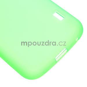 Matné gélové puzdro pre LG Optimus L5 Dual E455- zelené - 5