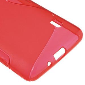 Gélové S-line puzdro na LG Optimus F6 D505- červené - 5