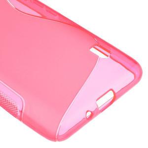 Gélové S-line puzdro pre LG Optimus F6 D505- ružové - 5