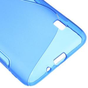Gélové S-line puzdro na LG Optimus F6 D505- modré - 5