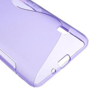Gélové S-line puzdro na LG Optimus F6 D505- fialové - 5