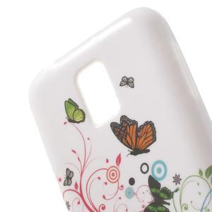 Gélové puzdro na Samsung Galaxy S5 mini G-800- motýli - 5
