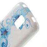 Gelové pouzdro na Samsung Galaxy S5 mini G-800- modrá lilie - 5/5