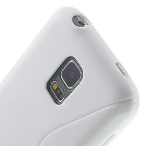 Gelové S-line pouzdro na Samsung Galaxy S5 mini G-800- bílé - 5