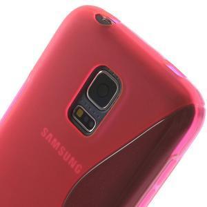 Gélové S-line puzdro pre Samsung Galaxy S5 mini G-800- ružové - 5
