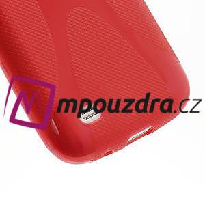 Gélové X puzdro pro Samsung Galaxy S4 mini i9190- červené - 5