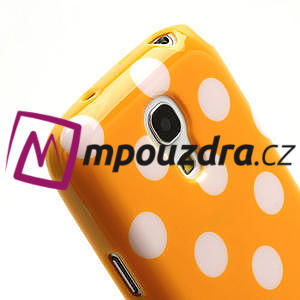Gélový Puntík pro Samsung Galaxy S4 mini i9190- oranžové - 5