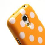 Gélový Puntík pro Samsung Galaxy S4 mini i9190- oranžové - 5/6