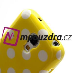 Gélový Puntík pro Samsung Galaxy S4 mini i9190- žlutá - 5