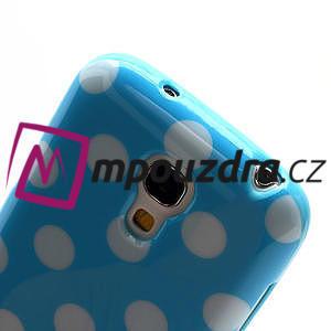 Gélový Puntík pro Samsung Galaxy S4 mini i9190- modrá - 5