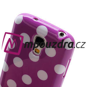 Gélový Puntík pro Samsung Galaxy S4 mini i9190- fialové - 5