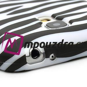 Gelové pouzdro pro Samsung Galaxy S4 mini i9190- bílá zebra - 5