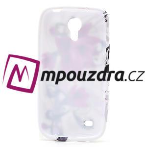 Gélové puzdro pro Samsung Galaxy S4 mini i9190- fialové kvety - 5