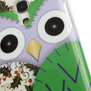 Gélové puzdro pre Samsung Galaxy S4 mini i9190- sova zelená - 5