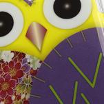 Gélové puzdro pre Samsung Galaxy S4 mini i9190- sova fialová - 5/5