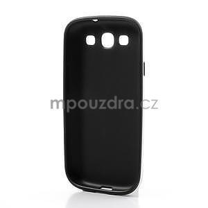 Gelové rámované pouzdro na Samsung Galaxy S3 i9300- černé - 5
