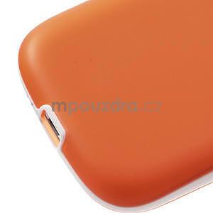 Gélové rámované puzdro pre Samsung Galaxy S3 i9300- oranžové - 5