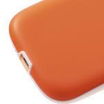 Gélové rámované puzdro pre Samsung Galaxy S3 i9300- oranžové - 5/7