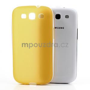 Gélové rámované puzdro pre Samsung Galaxy S3 i9300- žlté - 5