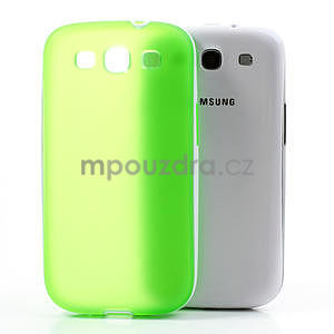 Gelové rámované pouzdro na Samsung Galaxy S3 i9300- zelené - 5