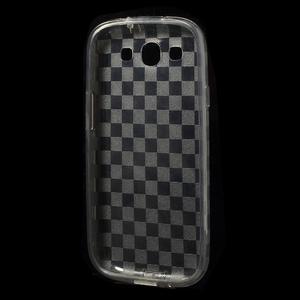 Gélové koskaté puzdro na Samsung Galaxy S3 i9300- šedé - 5