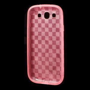 Gélové koskaté puzdro na Samsung Galaxy S3 i9300- růžové - 5