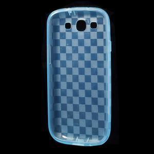 Gélové koskaté puzdro na Samsung Galaxy S3 i9300- modré - 5