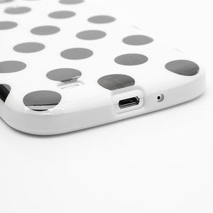 Gélové Puntík puzdro pre Samsung Galaxy S4 i9500- biele - 5